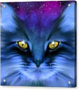 Blue Ghost Cat Acrylic Print