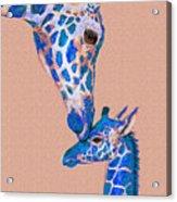 Blue Giraffes 2 Acrylic Print
