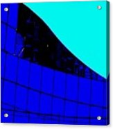 Blue Glass Abstract Acrylic Print