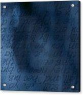 Blue Glimpse Acrylic Print by Vicki Ferrari