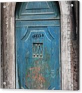 Blue Gothic Door In Venice Acrylic Print