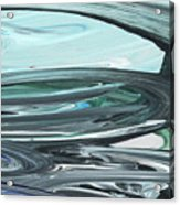 Blue Gray Brush Strokes Abstract Art For Interior Decor V Acrylic Print