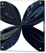Blue, Green And Black Butterfly Astract Acrylic Print