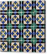 Blue Green Lisbon Tiles Souvenirs Acrylic Print
