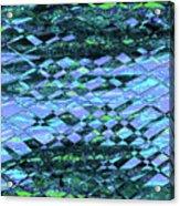 Blue Green Ocean Abstract Acrylic Print