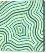 Blue Green Pattern Play Acrylic Print