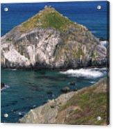 Blue Green Seas - Highway One Acrylic Print