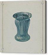 Blue-green Vase Acrylic Print