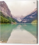 Blue-green Waters Of Lake Louise Acrylic Print