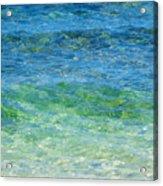 Blue Green Waves Acrylic Print