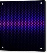 Blue Grid Acrylic Print