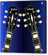 Blue Guitar Reflections Acrylic Print