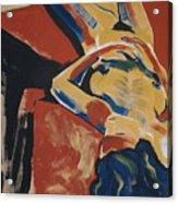 Blue Hair Acrylic Print