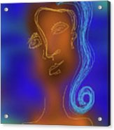 Blue Haired Woman Acrylic Print