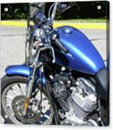 Blue Harley One Acrylic Print