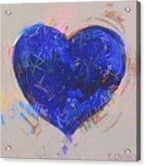 Blue Heart 126 Acrylic Print