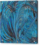 Blue Hearts Open Acrylic Print