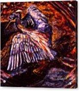 Blue Heron Swirl Acrylic Print