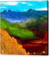 Blue Hills Acrylic Print
