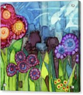 Blue Hoo Hoo Skies Acrylic Print