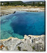Blue Hot Springs Yellowstone National Park Acrylic Print by Garry Gay