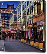 Blue Hour At East Fourth Acrylic Print