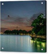 Blue Hour Harbourfront Singapore Acrylic Print