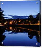 blue hour in Cork Acrylic Print
