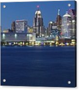 Blue Hour In Detroit Acrylic Print