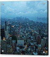 Blue Hour In New York Acrylic Print