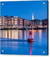 Blue Hour Over Portsmouth New Hampshire Acrylic Print
