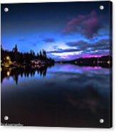 Blue Hour Reflected Acrylic Print