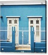 Blue Curacao House Acrylic Print