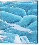 Blue Ice Svinafellsjokull Glacier Iceland Acrylic Print