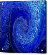 Blue Ice Twirl-1 Acrylic Print