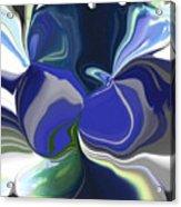 Blue Impression Acrylic Print