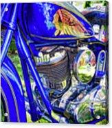 Blue Indian Acrylic Print