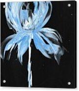 Blue Iris Bulb Acrylic Print