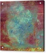 Blue Iron Texture Painting Acrylic Print