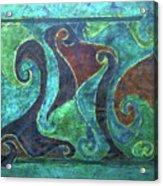 Blue Island Curves Acrylic Print