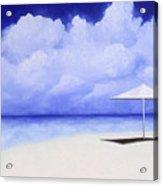 Blue Isolation Acrylic Print