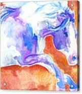 Blue Jumping Paint Acrylic Print