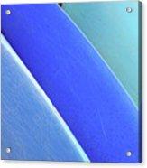 Blue Kayaks Acrylic Print by Brandon Tabiolo - Printscapes