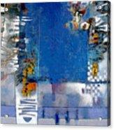 Blue Kitchen Table Acrylic Print