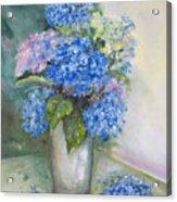 Blue Ladies Acrylic Print