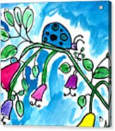 Blue Ladybug Acrylic Print