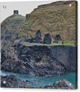 Blue Lagoon 2 Abereiddy Wales Acrylic Print