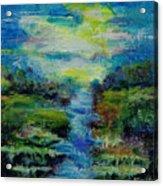 Blue Landscape. Acrylic Print