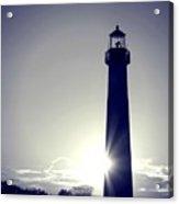 Blue Lighthouse Silhouette Acrylic Print