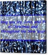 Blue Lights Abstract Christmas Acrylic Print